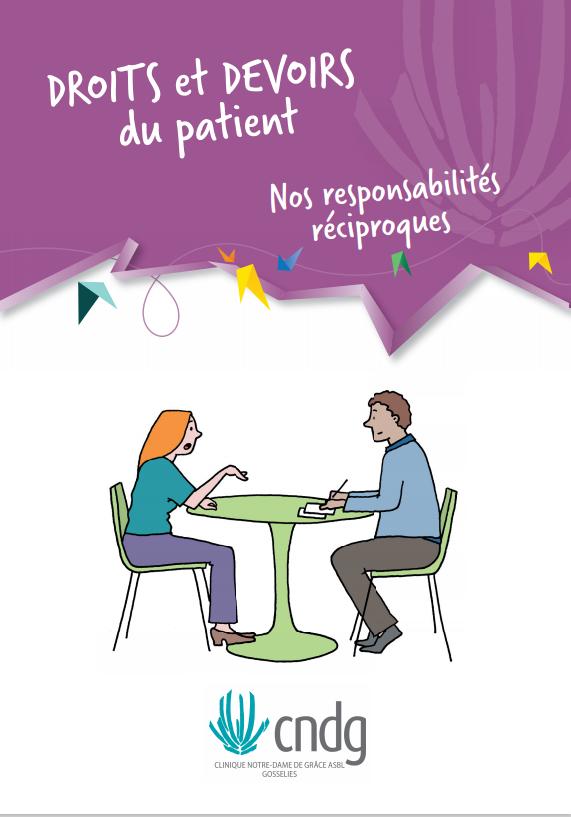 """Couverture de la brochure """"Droits et devoirs du patient"""""""